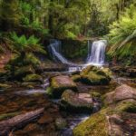 """Horseshoe Falls at Mt Field NP WA"" by Sharon Smith"