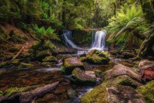 """Horseshoe Falls at Mt Field NP WA"" by Sharon Smith"